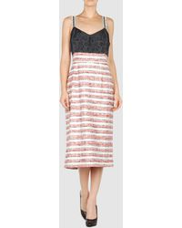 Peter Som 34 Length Dress - Lyst