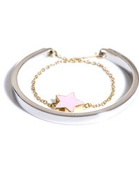 Delfina Delettrez Two in One Silver and Gold Star Bracelet silver - Lyst