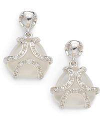 Di Modolo - Diamond White Onyx Spirit Earringsrhodium - Lyst