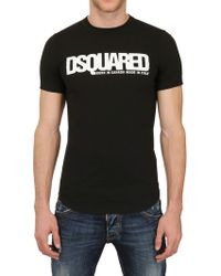 DSquared² Dsquared Logo Dyed Cotton Jersey Tshirt - Lyst