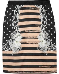 Emma Cook - Printed Satintwill Pencil Skirt - Lyst