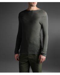 Emporio Armani Sweater in Shaved Plain Rib - Lyst