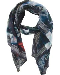 Givenchy Fighter Jet Pattern Scarf - Lyst