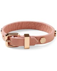 Marc By Marc Jacobs Turnlock Charm Leather Bracelet - Lyst