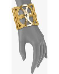 Oscar de la Renta Hammered Loop Cuff Bracelet - Lyst
