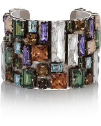 Philippe Audibert Bouquet Silverplated Swarovski Crystal Cuff - Lyst