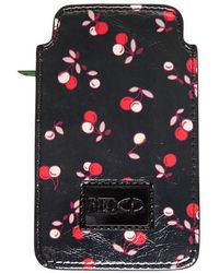 RED Valentino Cherry Printed Leather Iphone Case - Multicolour