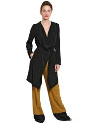 Space - Techno Satin Deconstructed Trench Coat - Lyst