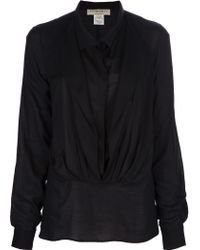 Avhash by Anne Valérie Hash Double Layer Voile Blouse - Lyst