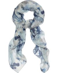 Brooks Brothers Silk Chiffon Watercolor Floral Square Scarf - Lyst
