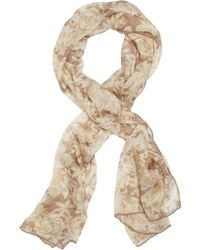 Brooks Brothers Silk Chiffon Roses Oblong Scarf - Lyst