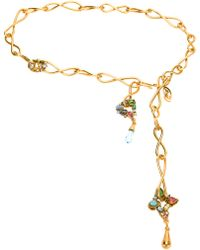 Christian Lacroix - Gold Tie Necklace - Lyst