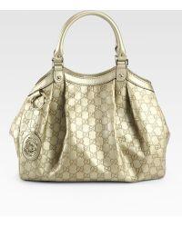 Gucci Sukey Medium Guccissima Tote Bag - Lyst