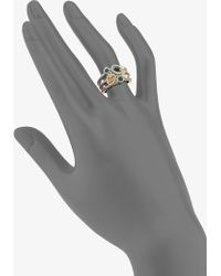 Judith Ripka | Green Quartz Green Chalcedony Canary Crystal Sterling Silver Ring | Lyst