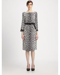 Marc Jacobs Belted Leopard Print Dress - Lyst