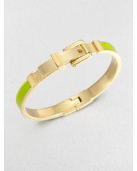 Michael Kors Enamel Buckle Bangle Bracelet Lime Green - Lyst