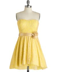 ModCloth Sweet As Lemon Squares Dress - Lyst