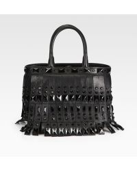 Prada Fringed Double Handle Bag - Lyst