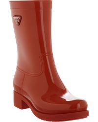 Prada Pull-On Rain Boot - Lyst