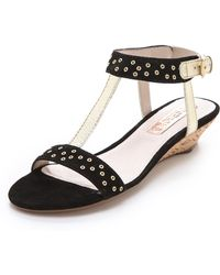 Rosegold Louis Studded Wedge Sandals - Lyst