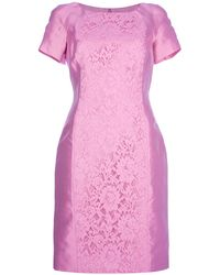 Valentino Shortsleeved Lace Dress - Lyst
