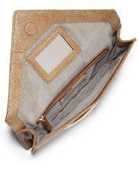 Z Spoke by Zac Posen - Marc Stingray Printed Leather Clutch - Lyst