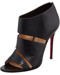 Christian Louboutin Chottiere Cutout Red Sole Bootie - Lyst