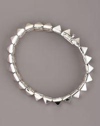 Eddie Borgo Pyramid Bracelet - Lyst