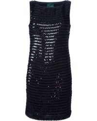 Jean Paul Gaultier Sequin Dress black - Lyst