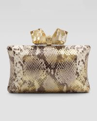 Overture Judith Leiber - Vanessa Large Concave Clutch Bag - Lyst