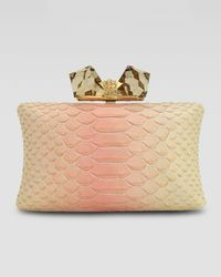 Overture Judith Leiber Large Embossed Clutch Bag - Lyst