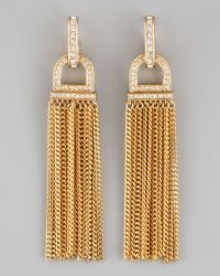 Rachel Zoe - Rhinestone Tassel Earrings - Lyst