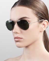 Ray-Ban Original Aviator Polarized Sunglasses Green - Lyst