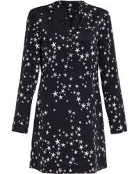 Tibi Star Print Tunic Dress - Lyst