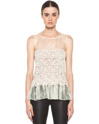 Valentino Four Leaf Clover Lace Top  - Lyst