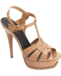 Saint Laurent Tribute Sandals - Lyst