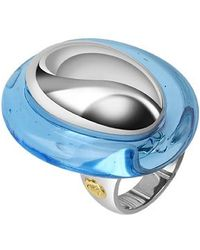 Masini - Vanita' - Blue Sterling Silver Oval Ring - Lyst