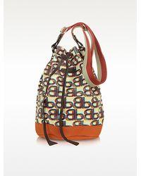 Bensimon - Logovibes Line Canvas Bucket Bag - Lyst