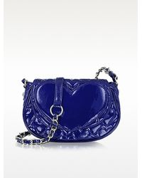 Betsey Johnson - Mine Yours Quilted Patent Eco Leather Crossbody - Lyst