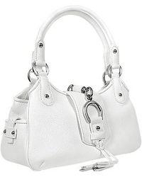 Buti | White Pebble Italian Leather Horsebit Handbag | Lyst