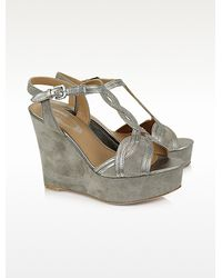 Elie Tahari - Lynette Suede Platform Wedge Shoes - Lyst
