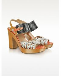 Fratelli Rossetti - Chimera Multicolor Leather Platform Sandals - Lyst