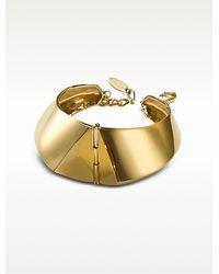 Giuseppe Zanotti - Golden Brass Cuff Bracelet - Lyst