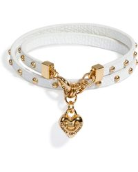 Juicy Couture - White Double Wrap Leather Bracelet - Lyst