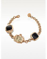 KENZO - Kichou - Rose Gold Plated Bracelet Watch with Onyx - Lyst