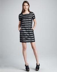 Marc By Marc Jacobs Lucienne Lace Stripe Dress - Lyst