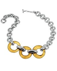 Masini - Amber Round Murano Glass & Sterling Silver Necklace - Lyst