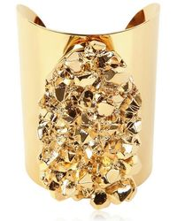 MICHAEL Michael Kors - Gold Plated Rock Cuff - Lyst