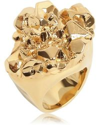 MICHAEL Michael Kors - Gold Plated Rock Ring - Lyst