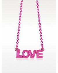 Patrizia Pepe - Brass Love Necklace - Lyst
